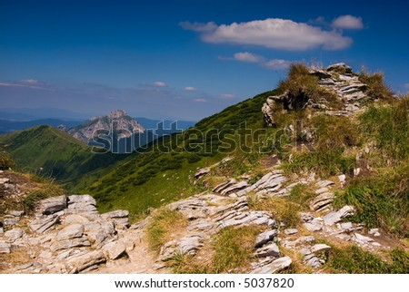Beautiful mountain landscape (ideal for background or wallpaper)
