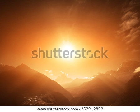 Beautiful mountain lanscape. - stock photo