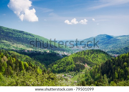 Beautiful mountain scenery. Carpathian Mountains.