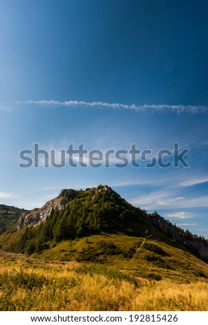 Beautiful mountain with awesome sky