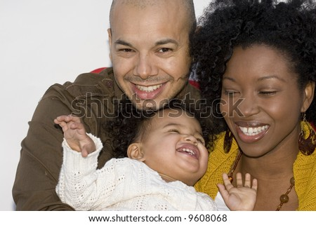 Beautiful multicultural family