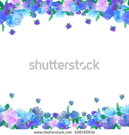 Borders Made Forget Me Not Flowers Stock Illustration 578136235 Shutterstock