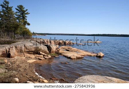 Beautiful natural scenery on Georgian Bay, Ontario - stock photo