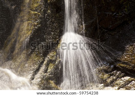 beautiful natural Waterfall in national park - stock photo