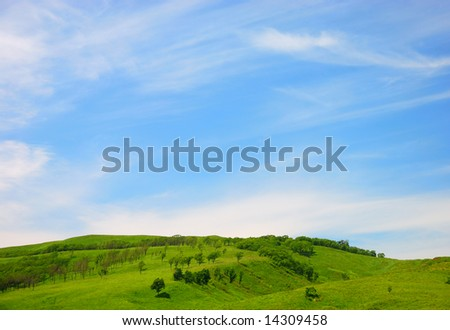 Beautiful nature landscape as a well background
