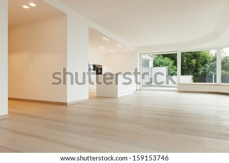 beautiful new apartment, modern interior - stock photo