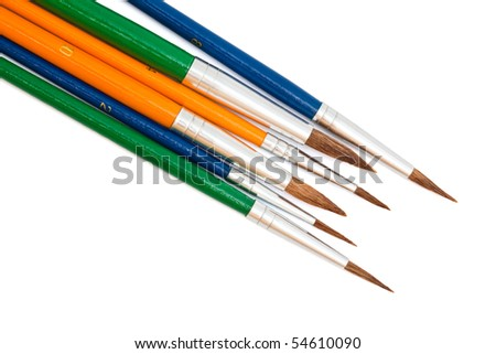 beautiful new paintbrush on a white background