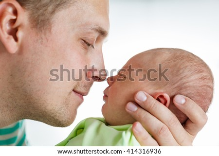 Beautiful newborn baby - stock photo