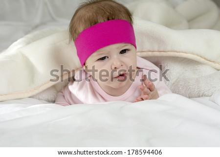 Beautiful newborn baby posing for photo session