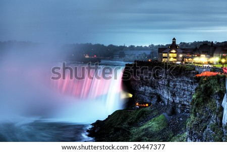 Beautiful Niagara Falls in the Ontario region - stock photo