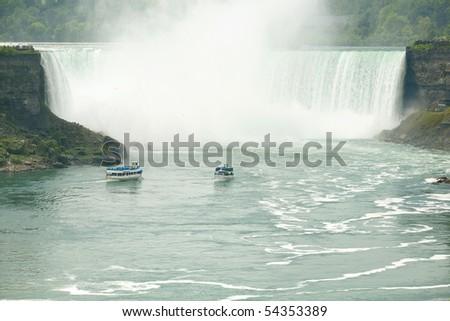 Beautiful Niagara Falls in the Ontario region. USA - Canada border. - stock photo