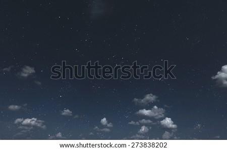 Beautiful night sky - stock photo