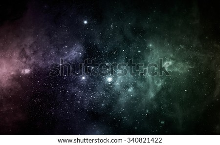 Beautiful night sky. Elements of this image furnished by NASA - stock photo