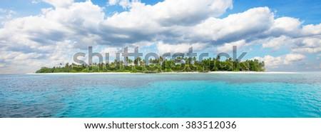 Beautiful nonsettled tropical island - stock photo