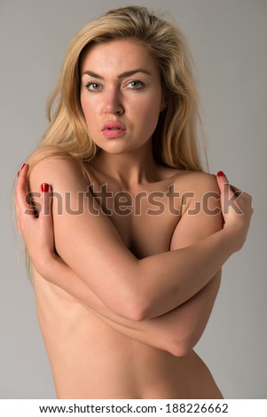 Beautiful nude blonde Russian woman