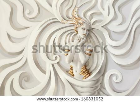Beautiful nude woman.  - stock photo