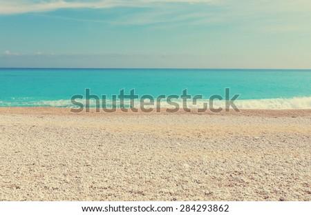 Beautiful ocean beach,instagram filter - stock photo