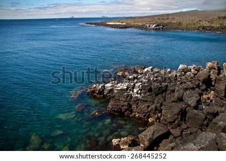 Beautiful ocean landscape in San Cristobal Island, Galapagos, Ecuador - stock photo