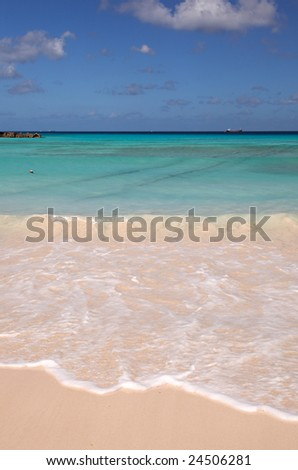 Beautiful ocean view in the Caribbean Sea - stock photo