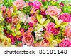 Beautiful of artificial flowers - stock photo