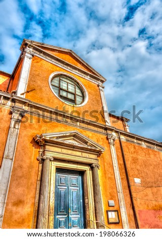Beautiful old building at Venice Italy. HDR processed - stock photo