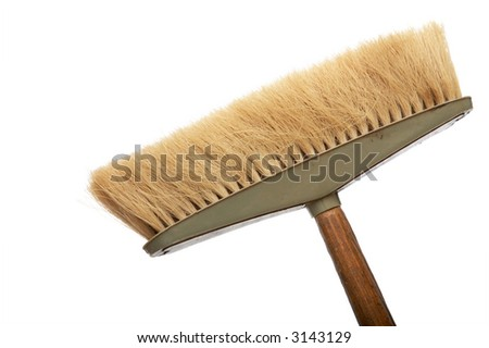 Beautiful old mop on a white background
