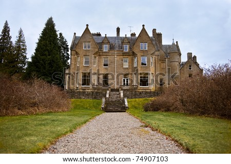 Beautiful old Scottish Country House - stock photo
