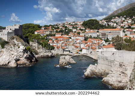 Beautiful old town in Dubrovnik, Croatia - stock photo