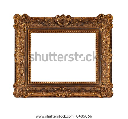 Beautiful old wooden frame - stock photo