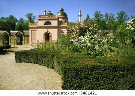 Beautiful oriental cloister to mosque