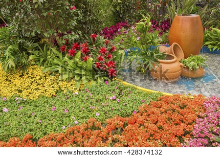 beautiful ornamental Garden - stock photo