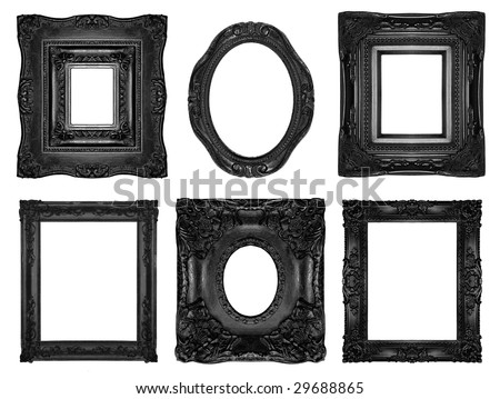 Beautiful ornate frames - stock photo