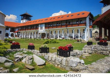 Beautiful Orthodox Monastery Mileseva, near Prijepolje, Serbia - stock photo