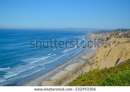 Beautiful Pacific coast, near San Diego, California - stock photo