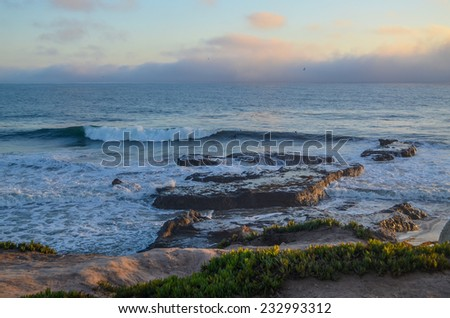 Beautiful Pacific coast, near Santa Barbara, California - stock photo