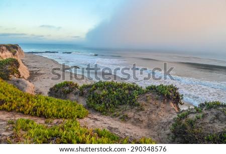 Beautiful Pacific coast, near Santa Barbara, California. - stock photo