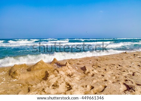 beautiful Palombaggia beach - stock photo