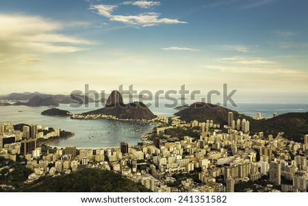 Beautiful panorama of Rio de Janeiro, Brazil - stock photo