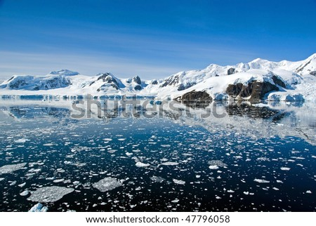 Beautiful Paradise Bay, Antarctica - stock photo