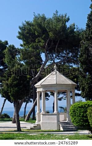 Beautiful park in city of Split - Croatia - stock photo