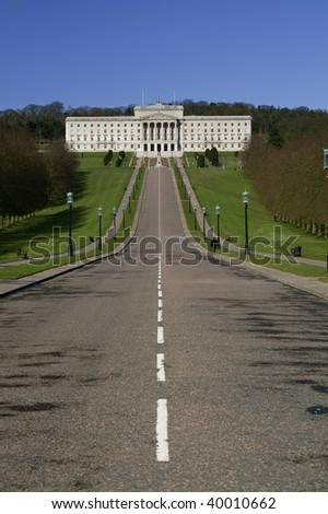 Beautiful Parliament Building.  Stormont in Northern Ireland
