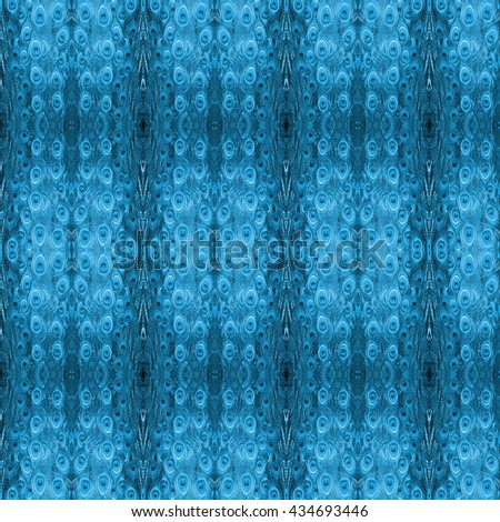 beautiful pattern abstract background texture made from colorful peacock feathers - stock photo