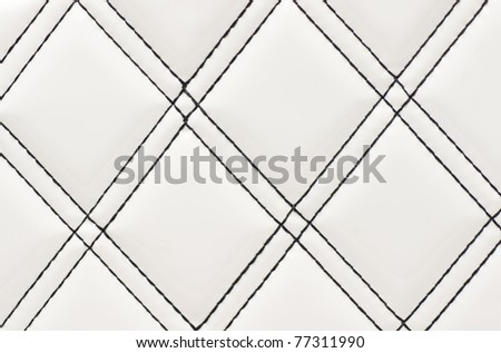 beautiful pattern of a white leather surface - stock photo