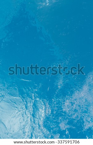 Beautiful pattern of blue water reflecting the sun.Vertical - stock photo