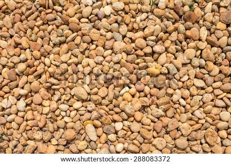 beautiful pebble floor as background, Thailand - stock photo