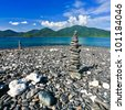 Beautiful pebble on island, Lipe, Andaman sea, Thailand - stock photo