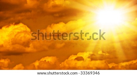 Beautiful photo of clouds and the sun