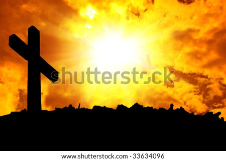 Beautiful photo of clouds and the sun - stock photo