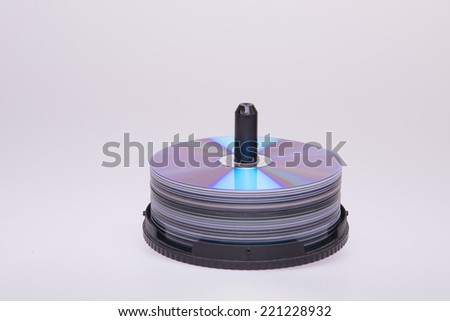 beautiful pile of dvd - stock photo