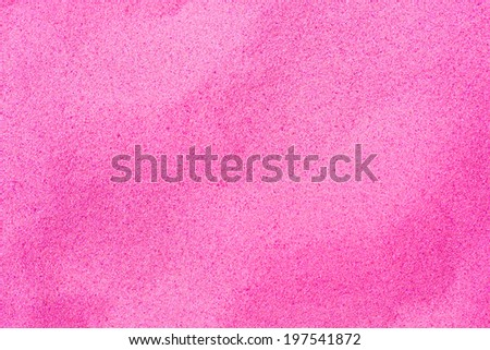 Beautiful pink sand stained - stock photo